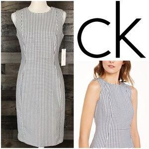 Calvin Klein Printed Sheath Dress Sleeveless Sz 8